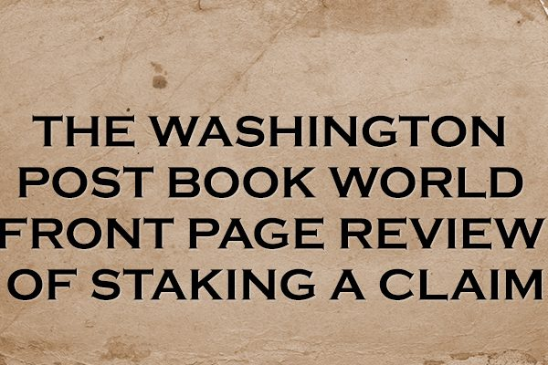 Washington Post Book World Front Page Review