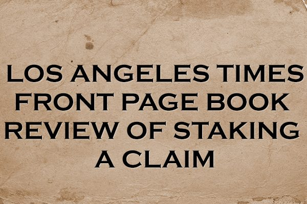 LA Times Book Review Front Page Acclaim