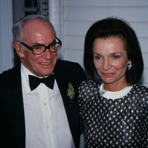 Malcom Forbes and Lee Radziwell celebrate the 70th birthday of Forbes Magazine.
